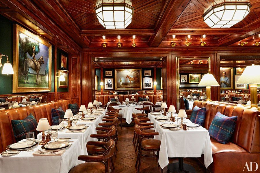 ralph lauren 39 s polo bar debuts in manhattan manhattan banquettes and bar. Black Bedroom Furniture Sets. Home Design Ideas