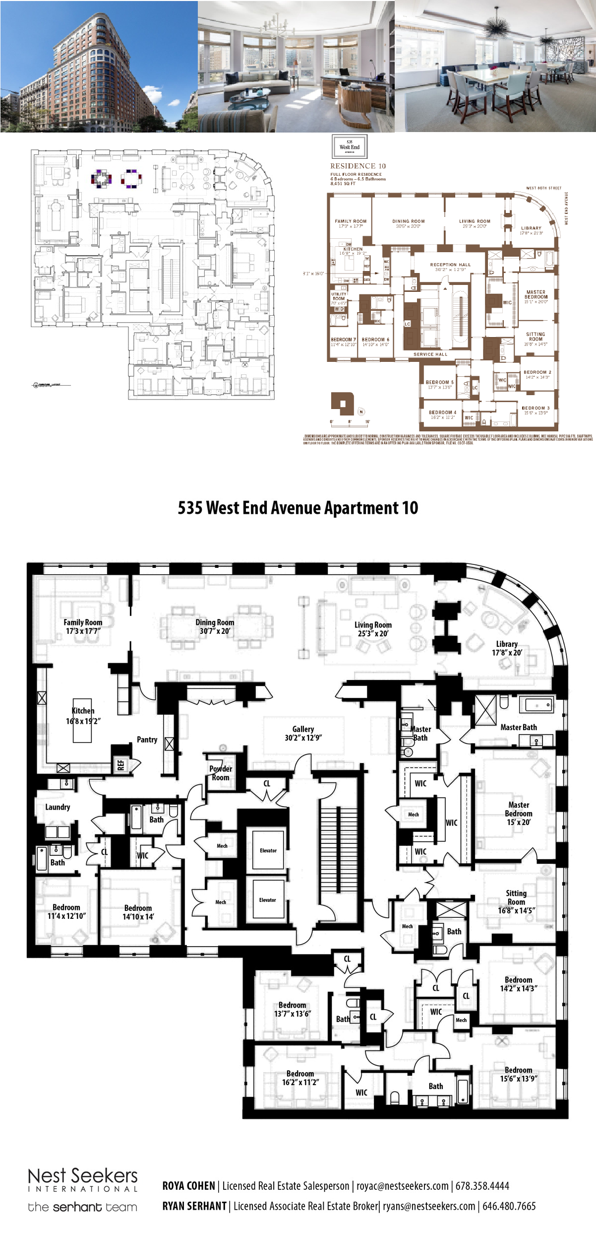 For Sale 535 West End Ave 10th Floor In Upper West Side Mansion Floor Plan Luxury Floor Plans Floor Plans