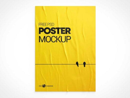 Movie Poster Advertising Psd Mockup Psd Mockups Poster Mockup Psd Poster Mockup Free Poster Mockup