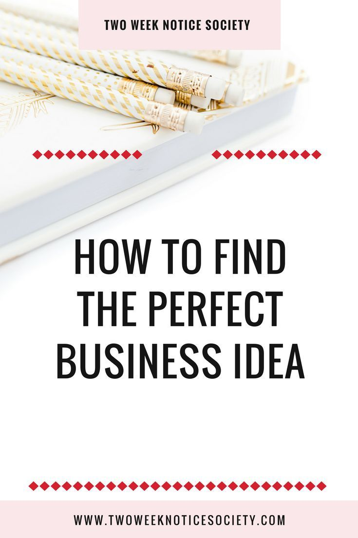 How To Find The PERFECT Business Idea | Business, Online business ...