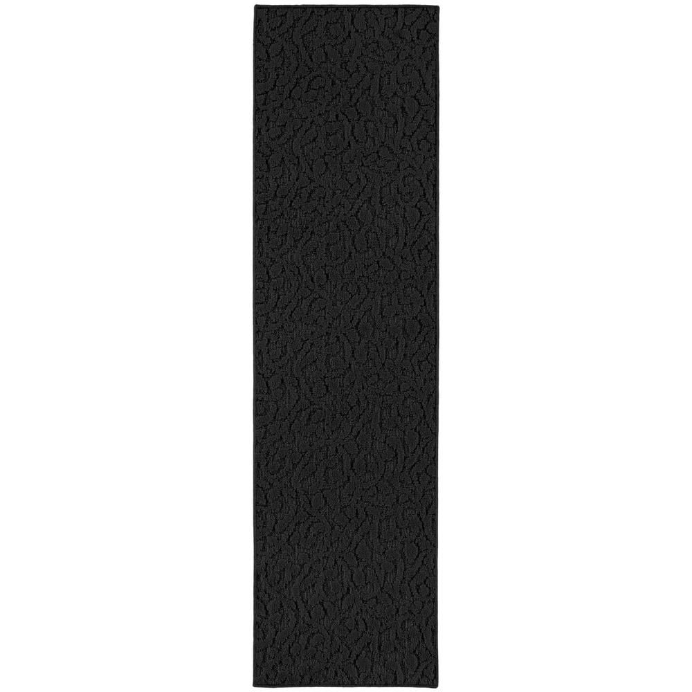 Garland Rug Ivy Black 3 Ft X 12 Ft Runner Rug Black Runner Rug Area Rugs Area Rug Runners