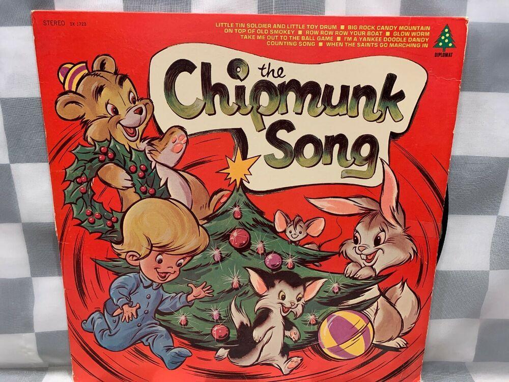 The Chipmunk Song Christmas LP Record Album Vinyl