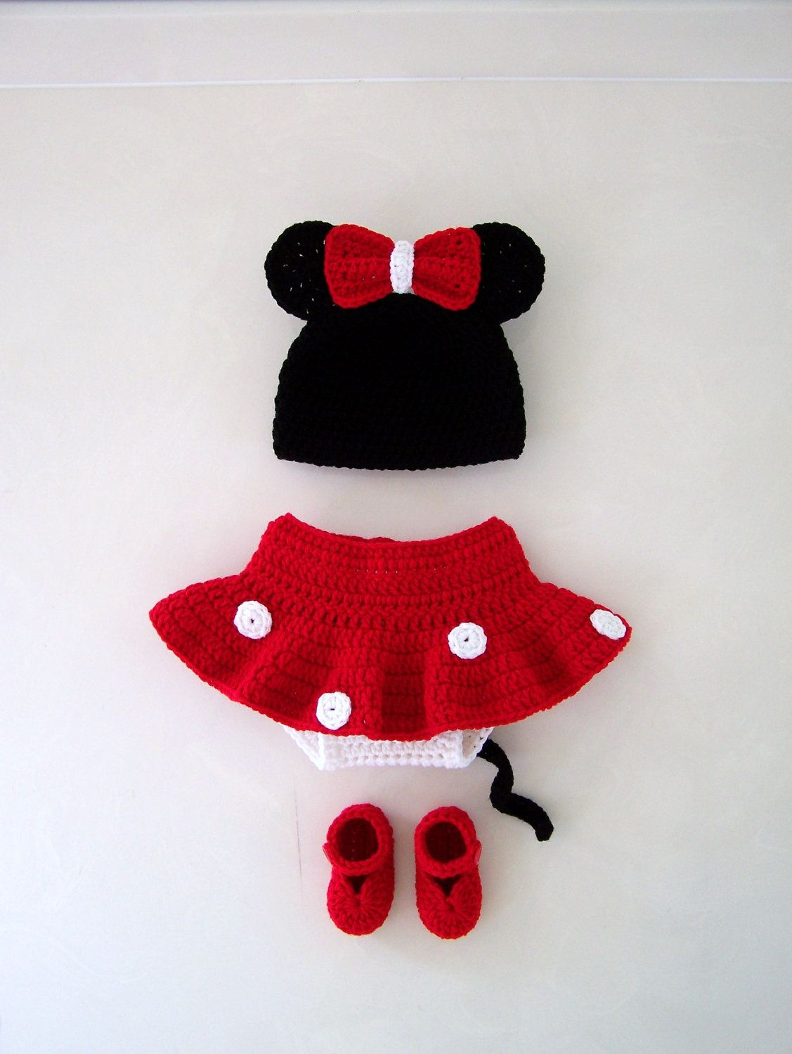Custom Order Crochet Minnie Mouse Set And Mickey Mouse Set. $120.00 ...