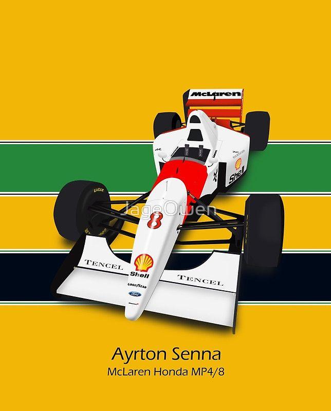 Ayrton Senna Mclaren Mp4 4 With Full Helmet Colours By Jageowen Ayrton Senna Aryton Senna Ayrton