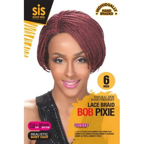 Hollywood SIS Afro Braid Lace Front Wig BOB PIXIE | Lace