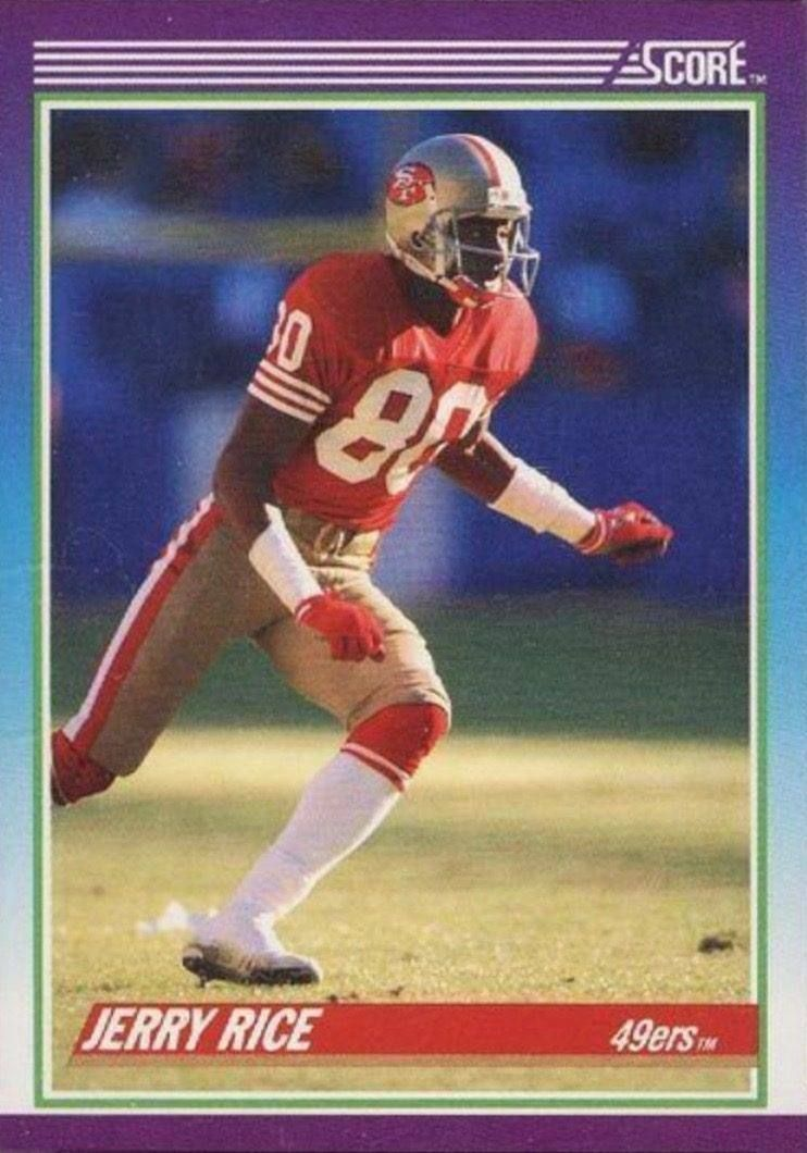 1990 Score 200 Jerry Rice Football Card In 2020 Football Cards Jerry Rice Sports Cards