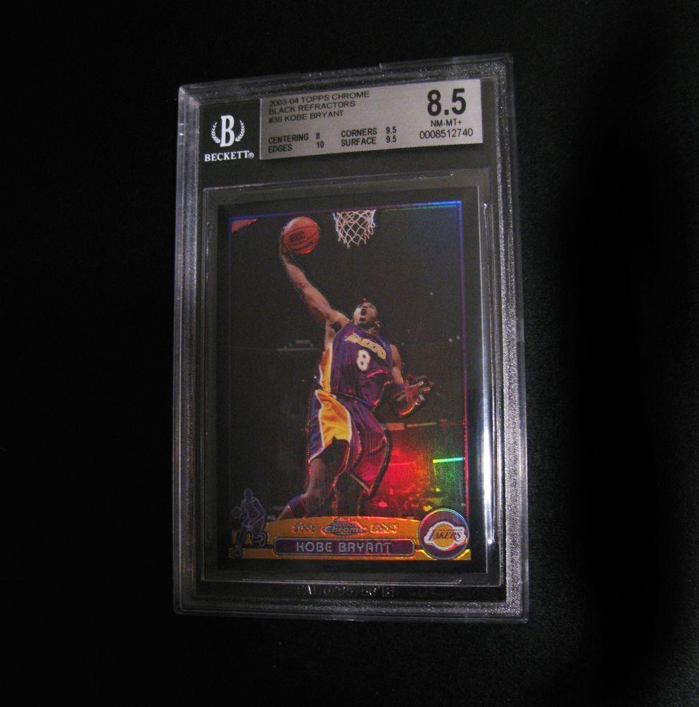 2003 04 Topps Chrome Black Refractor 36 Kobe Bryant Lakers