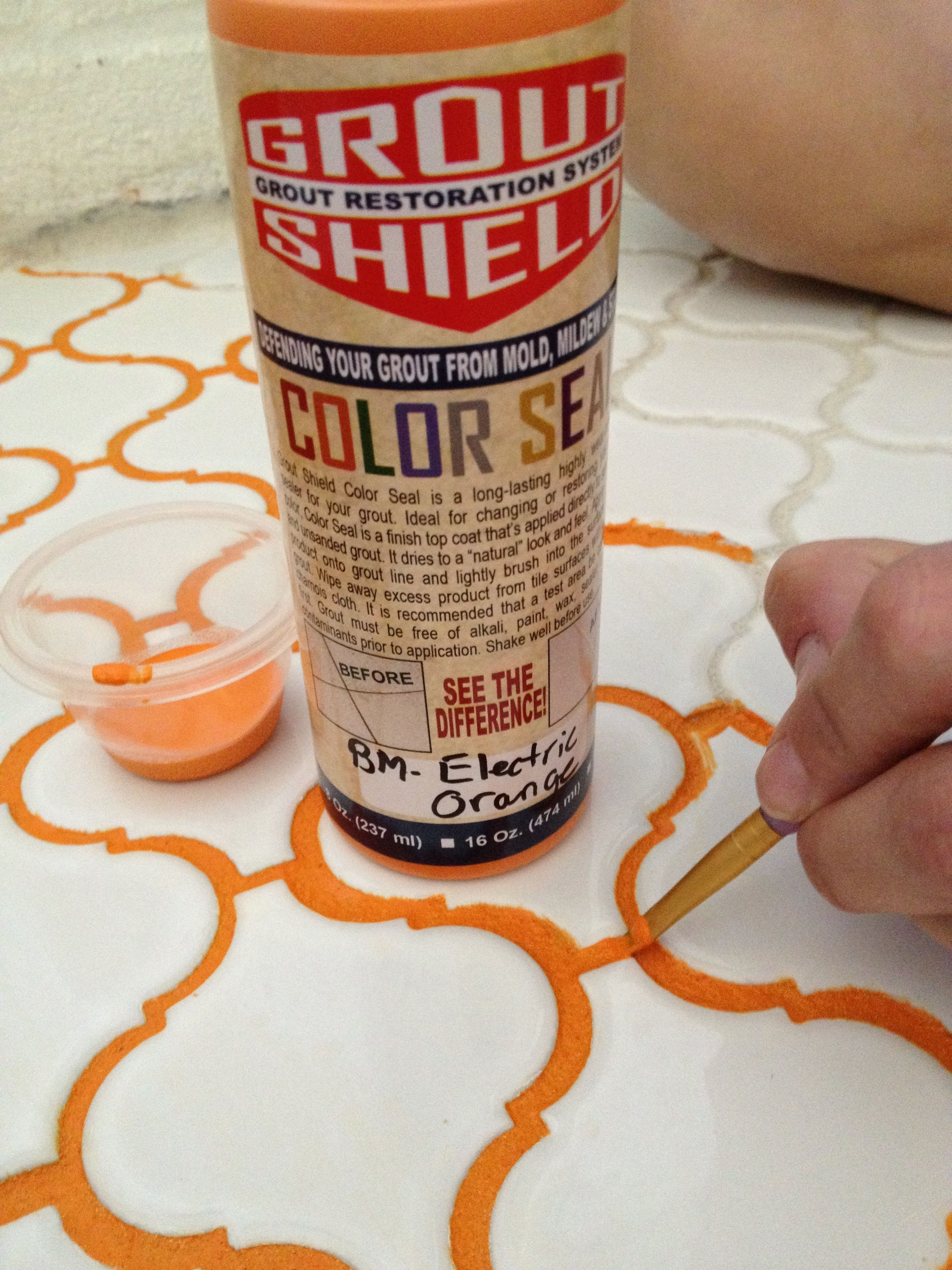 - Colored Grout Stain Grout Stain, Dull Tile, Coloured Grout