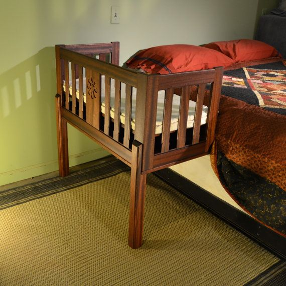 Sidecar Crib Sheet : Cherry slat sided sidecar style baby bed for close