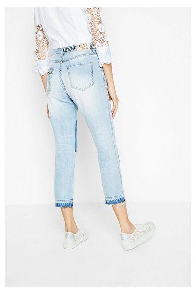 Greatness Para Every Single Pantalones Mujer Olga Vaqueros Claros qn7Zp6