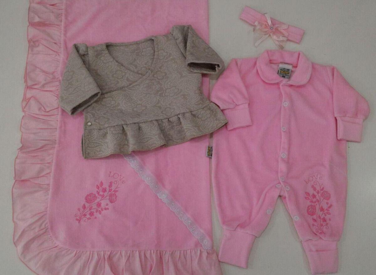 0bc2cf76b0 kit saída de maternidade 3 peças bebe menina frete gratis