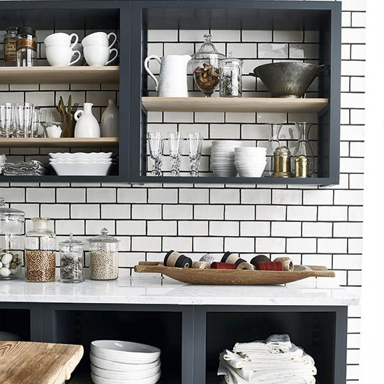 6 Clever kitchen storage solutions Open shelving, Kitchenware