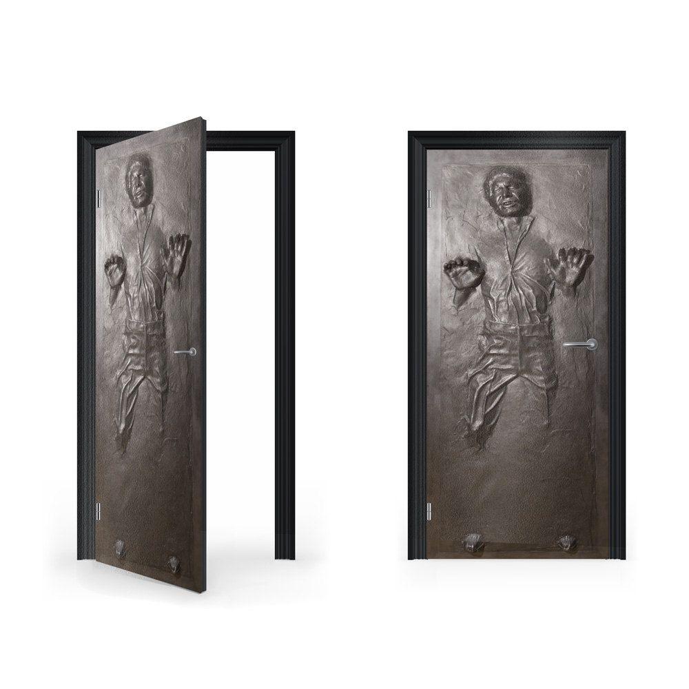 Doorwrap han solo in carbonite vinyl sticker for door gbp