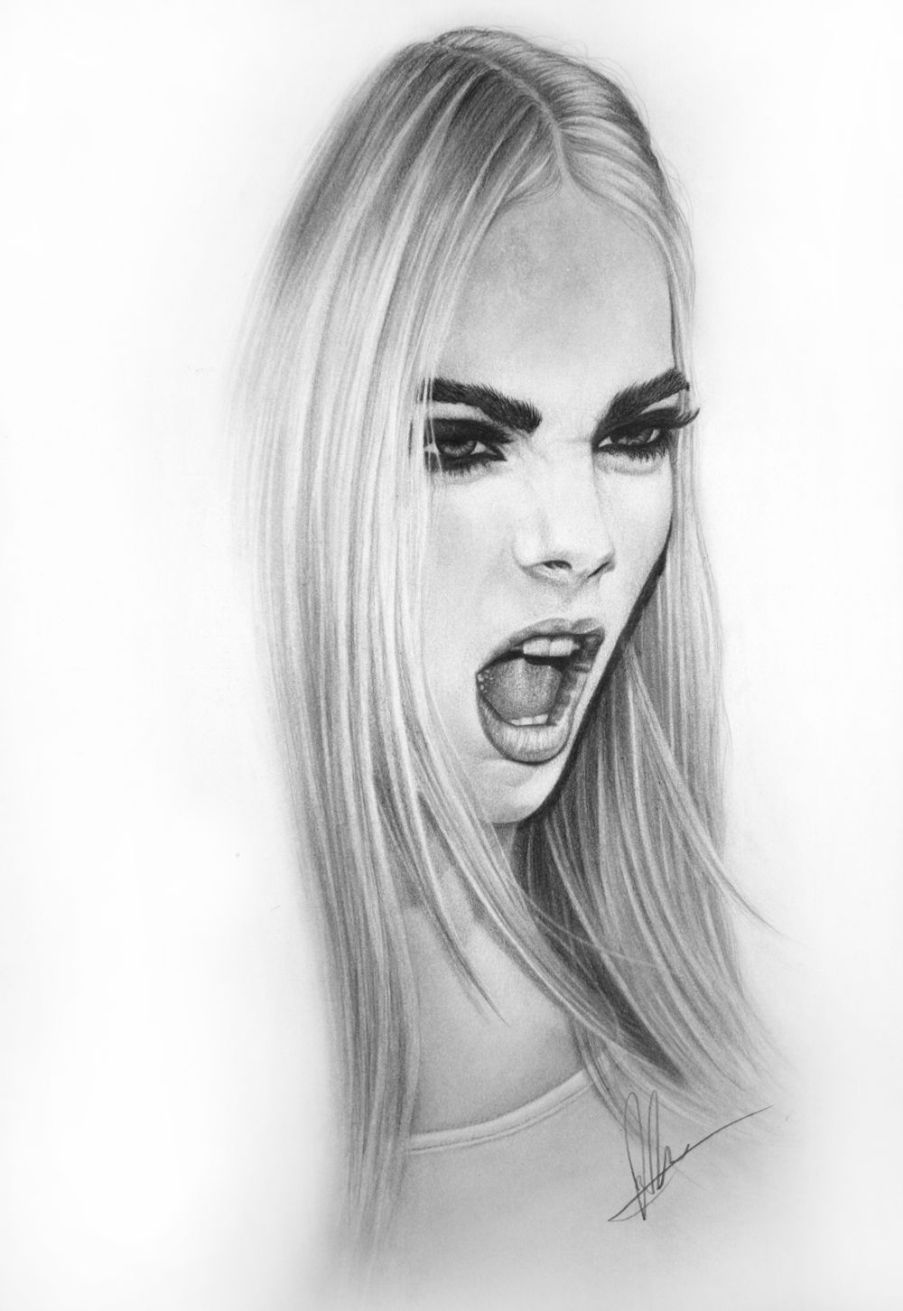 Gorgeous Portrait Illustrations by Laura Eddy  Portrait