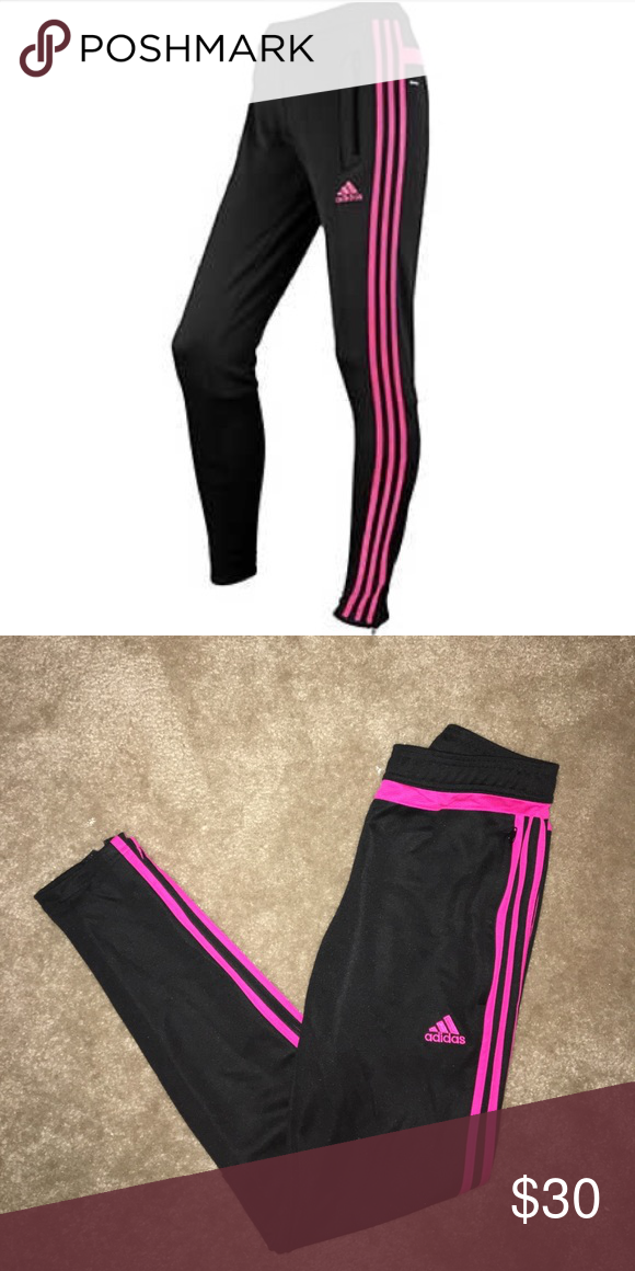 BRAND NEW* Adidas hot pink and black pants Never been worn