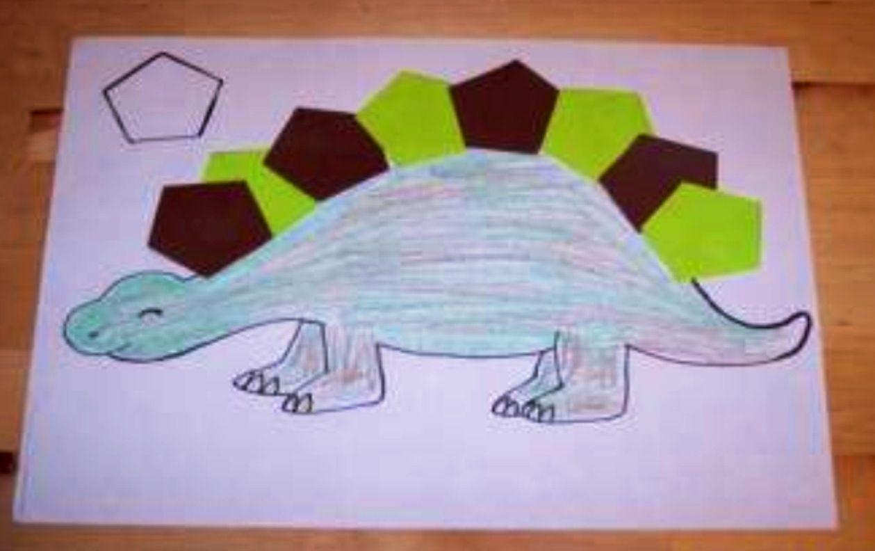 Shape Dinosaur Craft