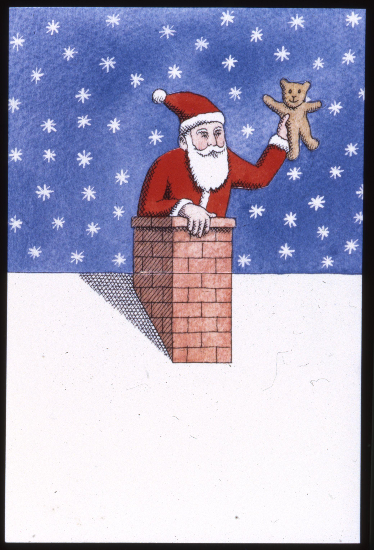 La Poste Pere Noel Carte postale père Noël 1992 © L'Adresse Musée de La Poste / La