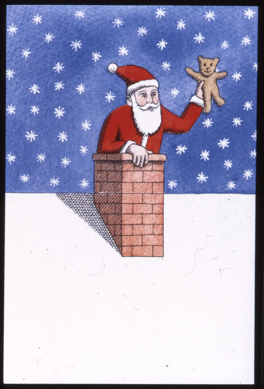 Adresse Pere Noel La Poste Carte postale père Noël 1992 © L'Adresse Musée de La Poste / La