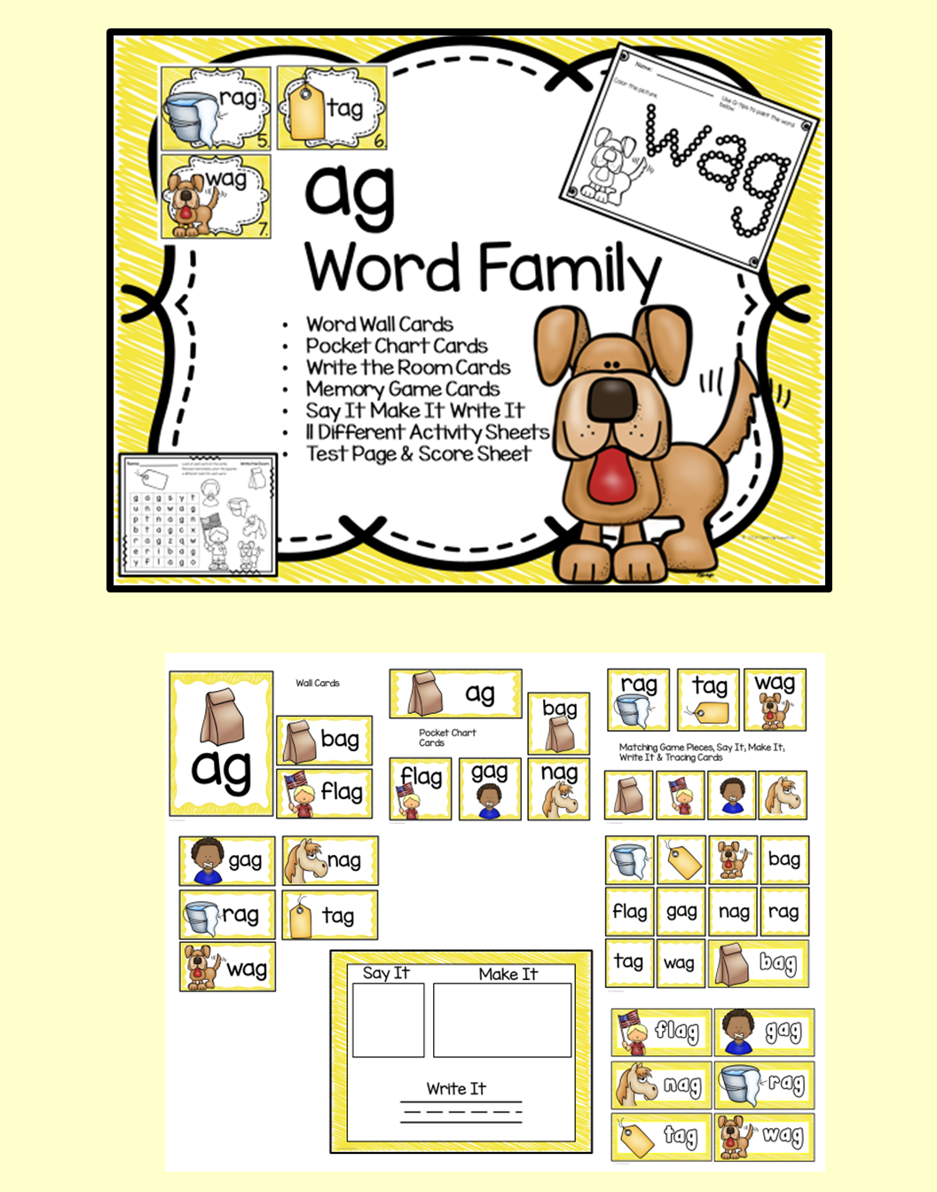 Ag Word Family Centers