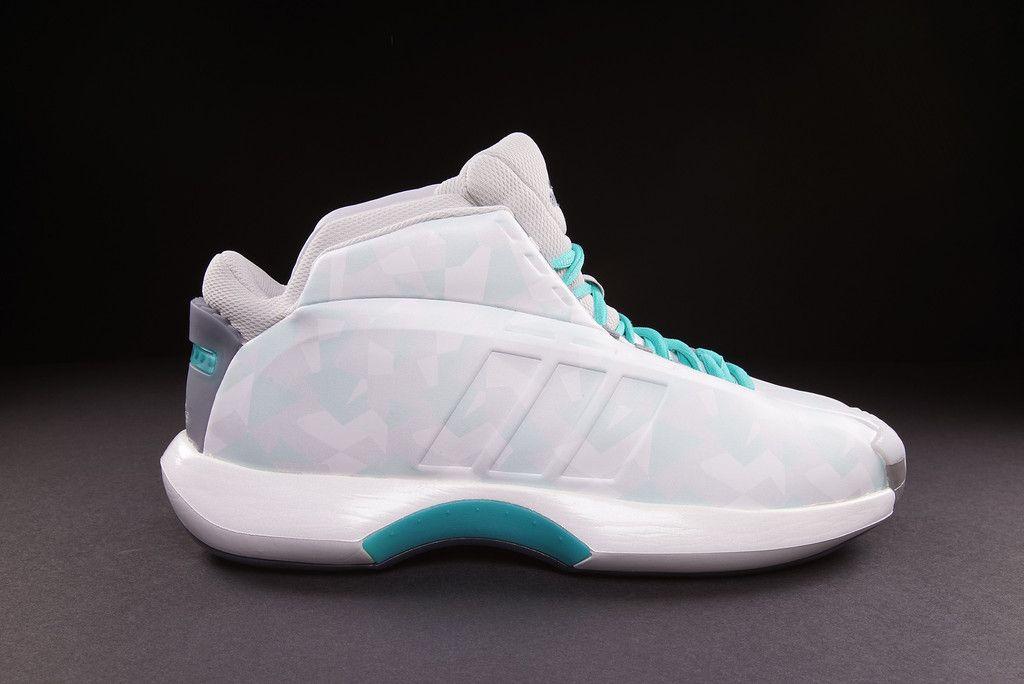 """size 40 f11b3 1abe0 adidas Crazy 1 (KOBE) """"White   Turquoise"""""""