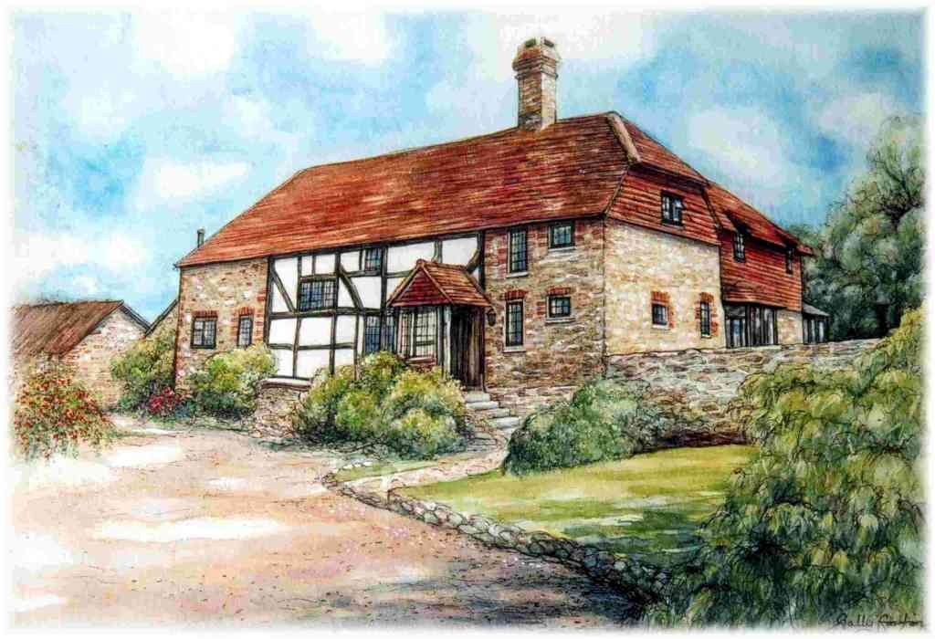 Upper Highfield Farm by Sally Gorton