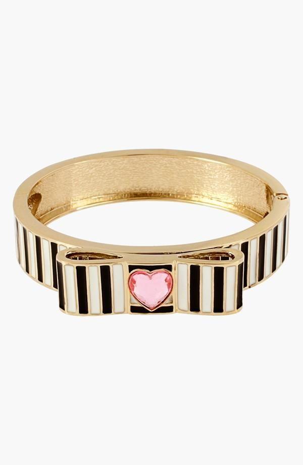 Bangle Perfection: Stripes + Heart + Gold- Betsy Johnson