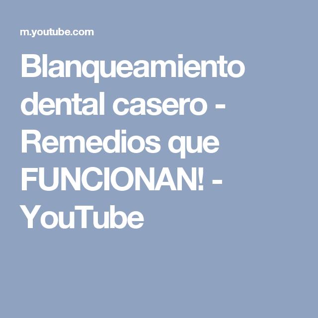 Blanqueamiento dental casero - Remedios que FUNCIONAN! - YouTube