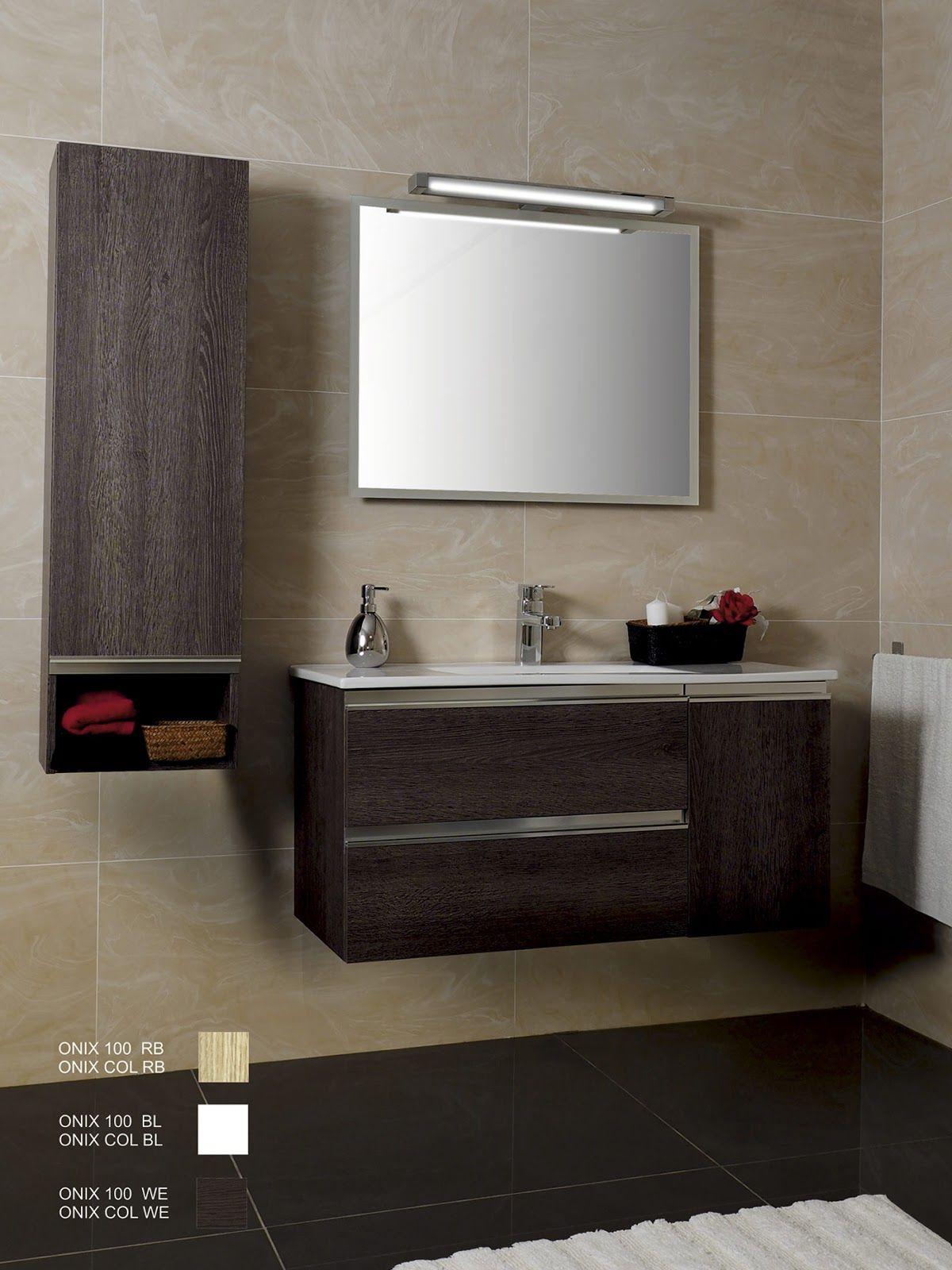 Mueble ba o suspendido 2 cajones 1 puerta lavabo incluido - Diseno de banos online ...