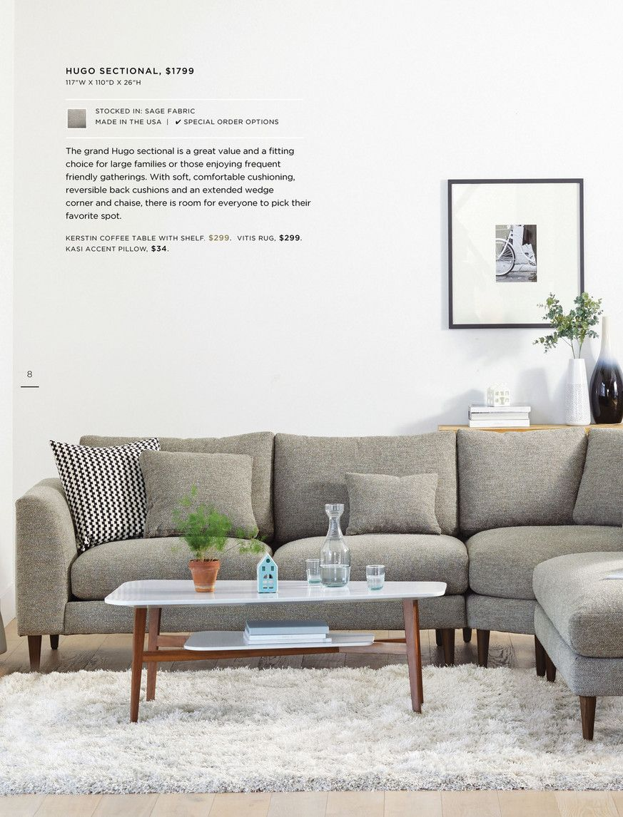 Dania Furniture Winter Catalog Healy Home Family Room Sectional