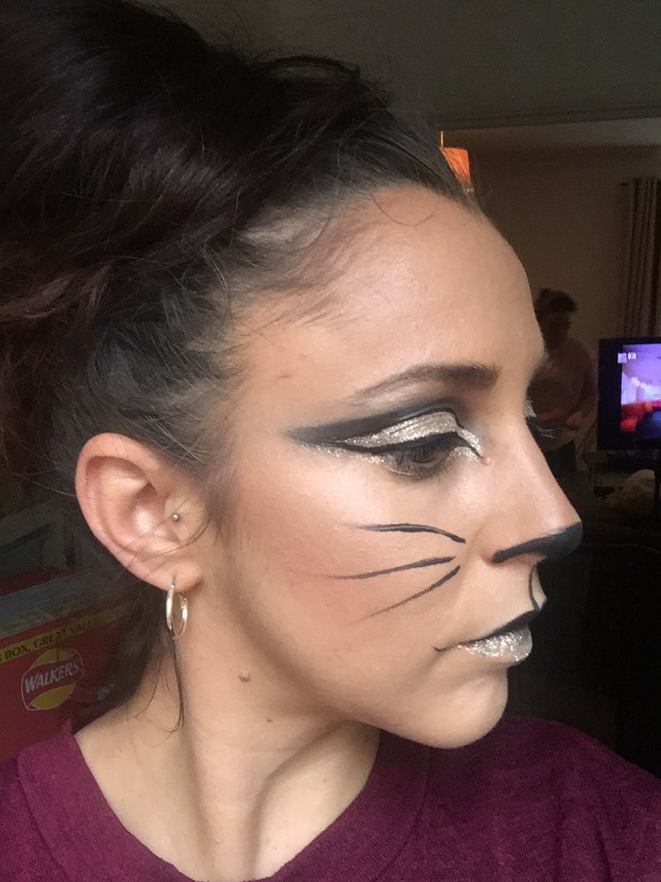 Quick trial of Halloween make up 👻😈☠️ glam cat