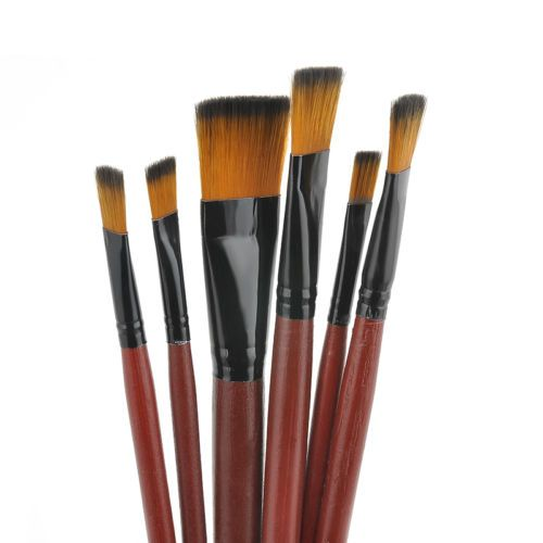 6PCS New Nylon Acrylic Oil Paint Brushes Set For Art Artist Supplies Watercolor - http://crafts.goshoppins.com/art-supplies/6pcs-new-nylon-acrylic-oil-paint-brushes-set-for-art-artist-supplies-watercolor/