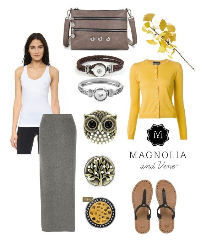 """""""Magnolia and Vine Casual Yellow"""" by magnoliaandvine ❤ liked on Polyvore featuring UGG Australia, Lucas Hugh, Theory, Boutique Moschino, Crate and Barrel, women's clothing, women, female, woman and misses"""
