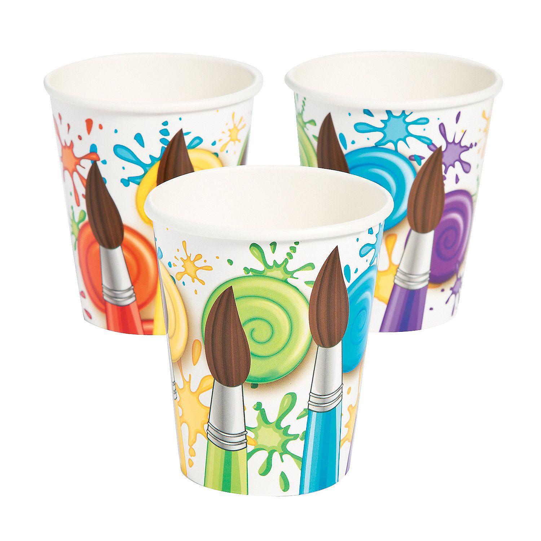 Little+Artist+Party+Beverage+Cups+-+OrientalTrading.com