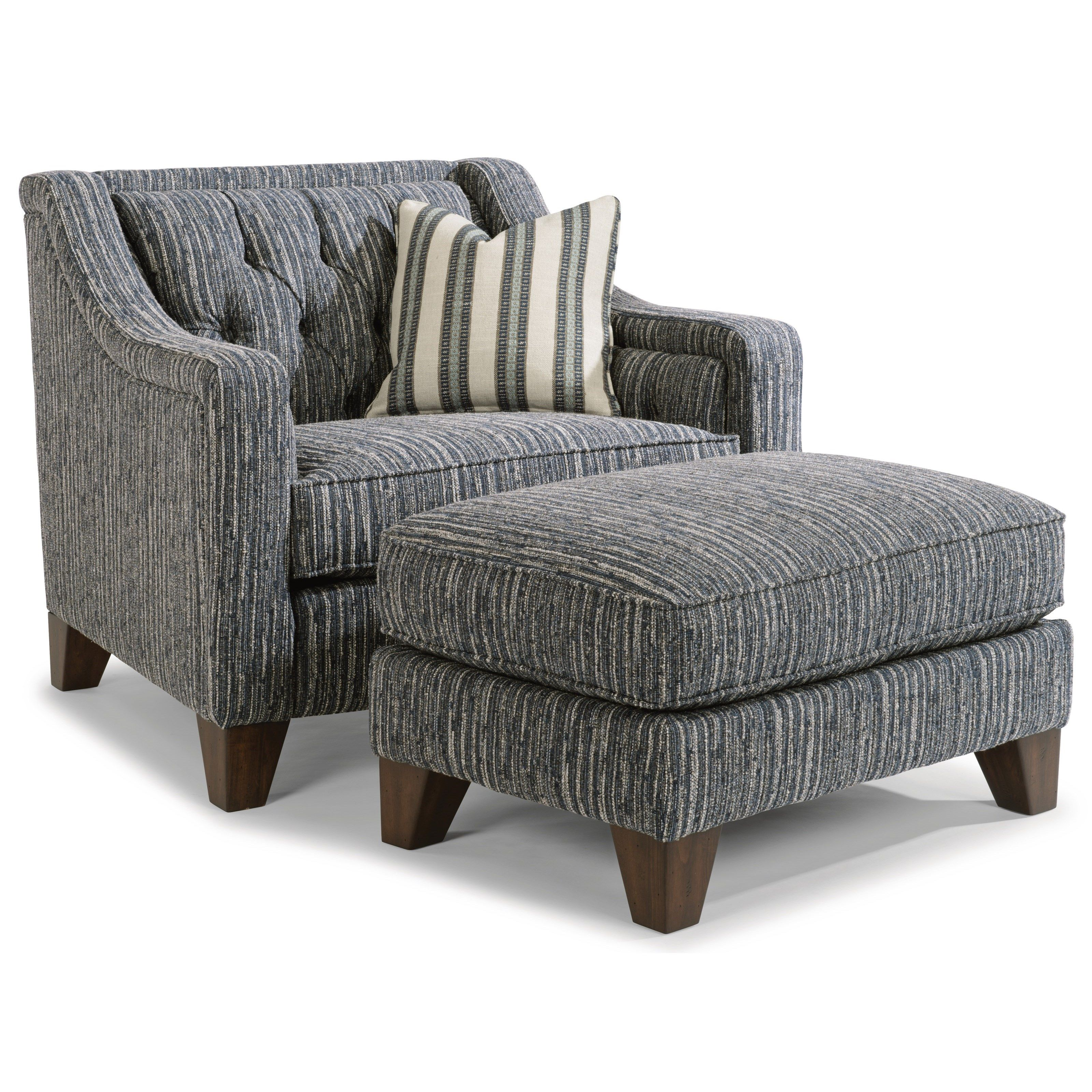 Best Sullivan Chair And Ottoman Set By Flexsteel At Coconis 400 x 300