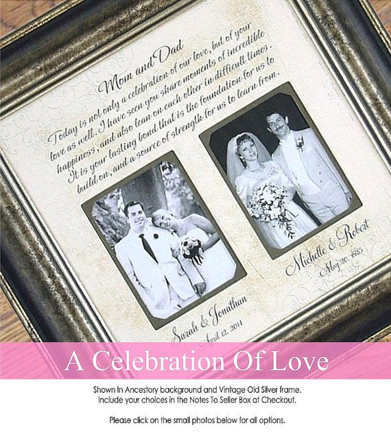 Wedding Gift for Dad, Wedding Gift for Mom, Parents of the Bride ...