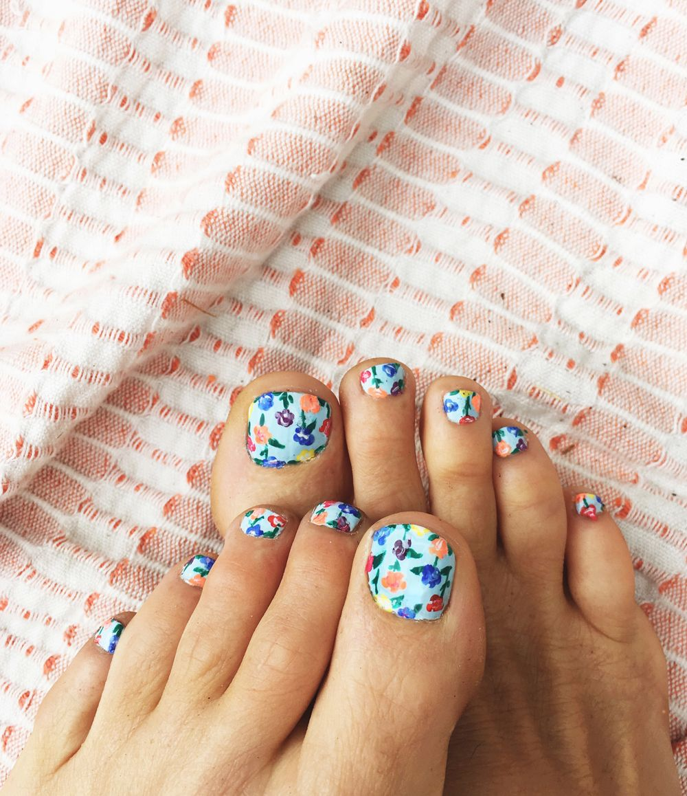 Bloomin Toes | Kiss nails, Painted toes and Pedicures