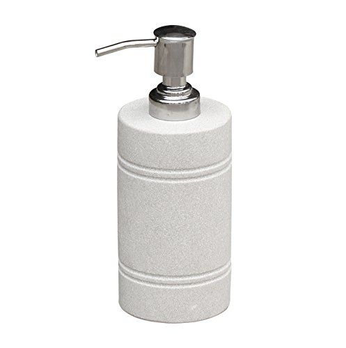 Amazon Com Souvnear 7 3 Liquid Soap Lotion Dispenser Made In White Sandstone With Aluminum Handle Lotion Dispenser Soap Dispenser Soap Lotion Dispensers