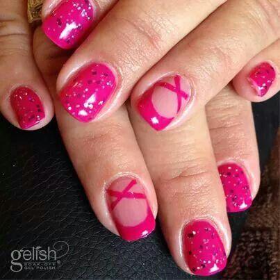 Ballet Shoe Nail Art With Gelish Gel Polish Nail Art I Love
