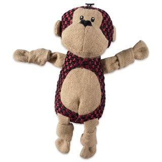 Dii Squeaker Burlap Pet Toy 2 Morris Monkey Barton Bear