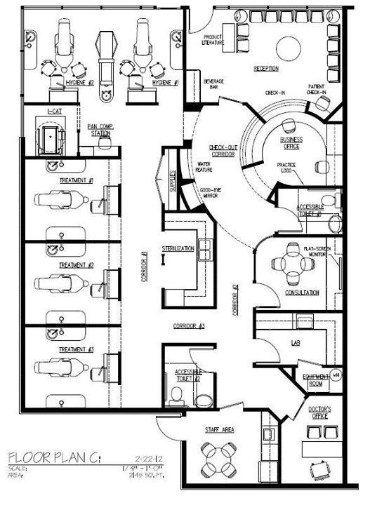 Front Desk Layout Office Floor Plan Hospital Floor Plan Clinic Design