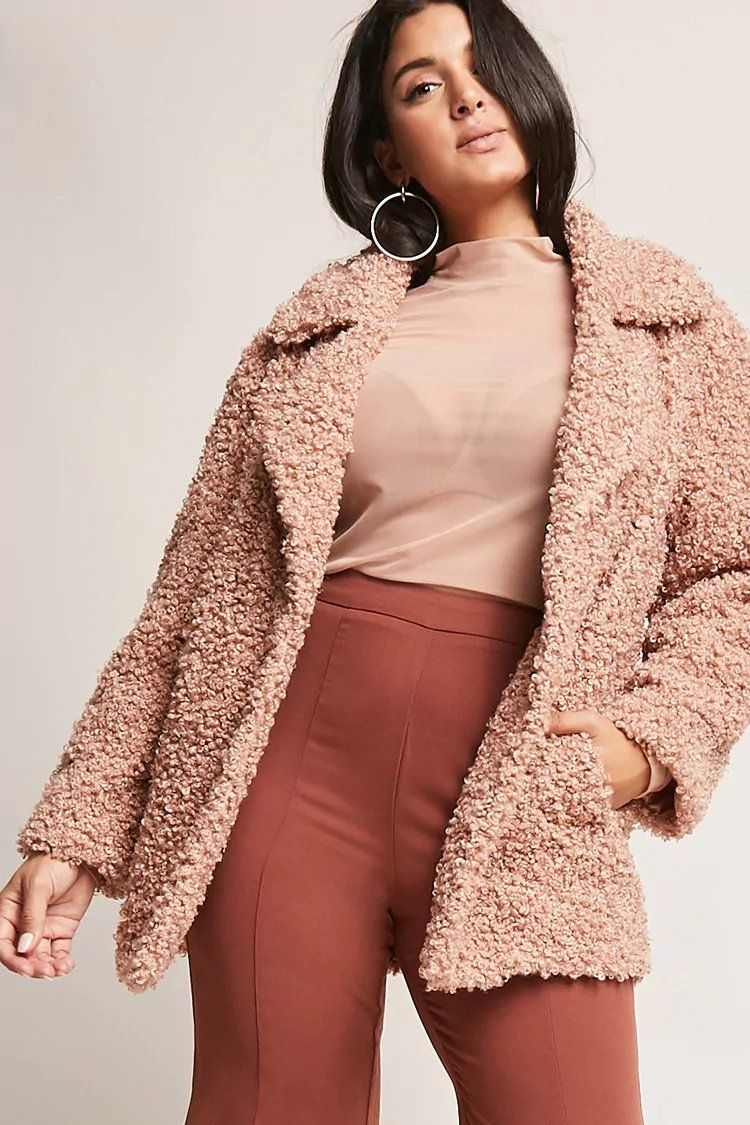 3389e4b9206 Product Name Plus Size SHACI Boucle Knit Jacket