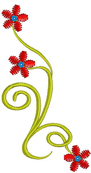 Floral emboidery design