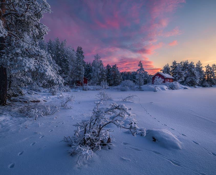 Ringerike Norway Dec 2017 Pentax K 1 Pentax 15 30 Sirui W 2204 Landscape Photography Winter Photography Landscape