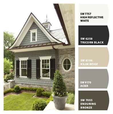 Paint Colors From Colorsnap By Sherwin Williams Cottage Exterior House Paint Exterior Farmhouse Exterior