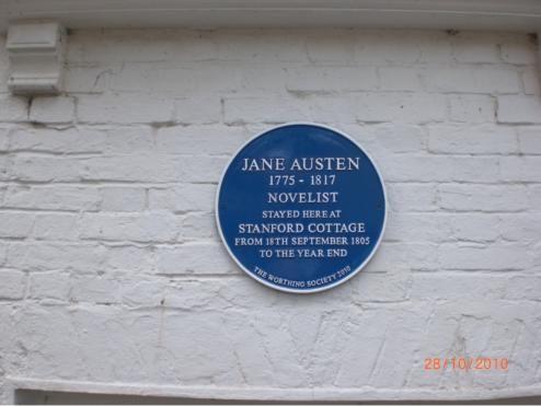 Stanford Cottage Where Jane Austen Stayed Off Warwick Street Worthing Jane Austen Jane Cottage