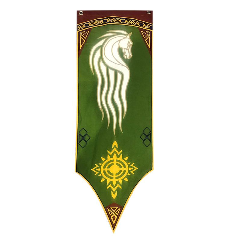 Rohan Horse Banner Of Lord Of The Rings Retro Flag Flag Drawing Horse Flags