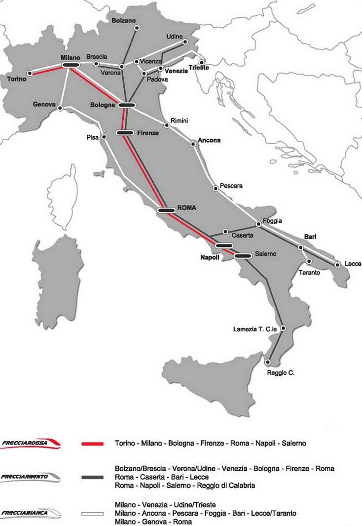 Le Frecce Frecciarossa Argento Bianca High Speed Run By