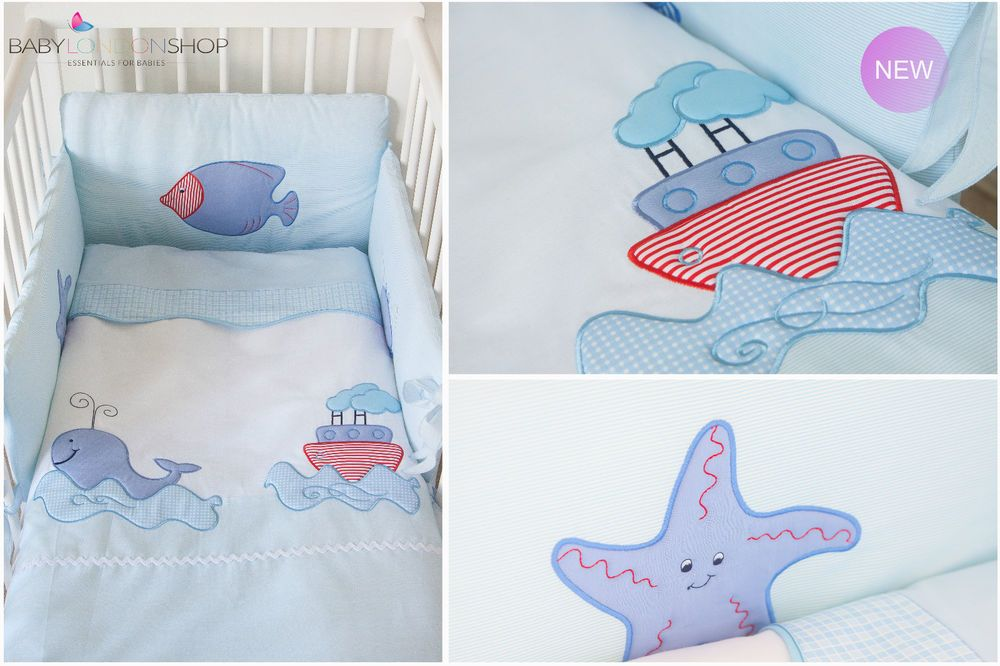 Luxury Nursery Baby Cot Bedding Set Embroidered Unique Design Boy Girl Baby Cot Bedding Sets Luxury Nursery Cot Bedding