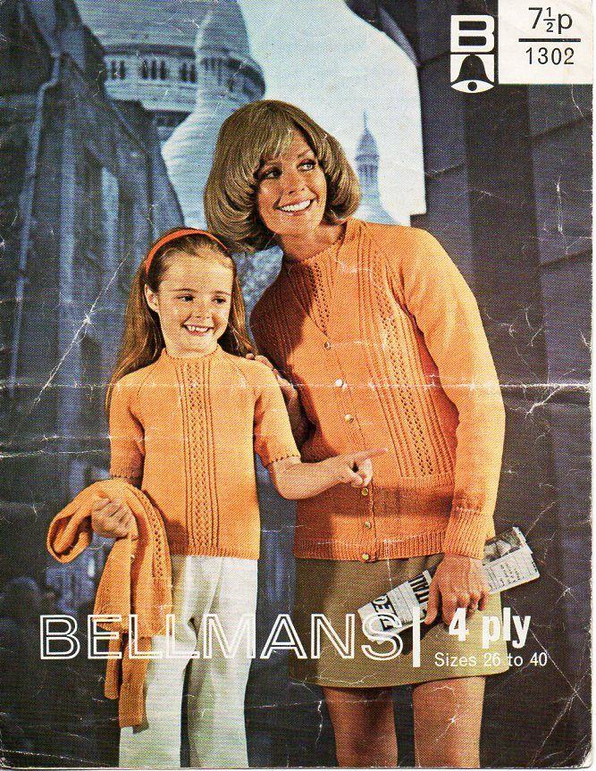 Vintage Womens Knitting Pattern Pdf Download 4ply Ladies Short