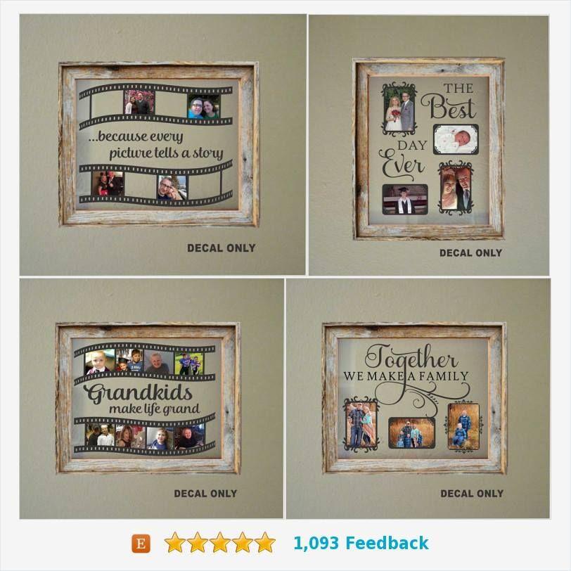 DIY Floating Frame Decals - Makes a wonderful Gift for Grandparents ...
